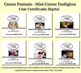 Cursos Rápidos Teológicos com Certificado Digital
